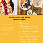 Nettle, Fennel & barley tea lactation support