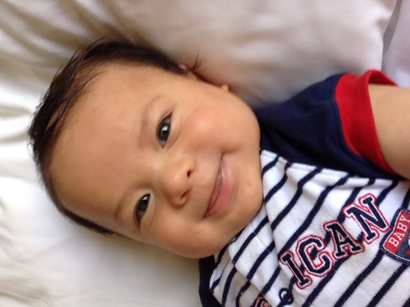 Danielle's baby smiling